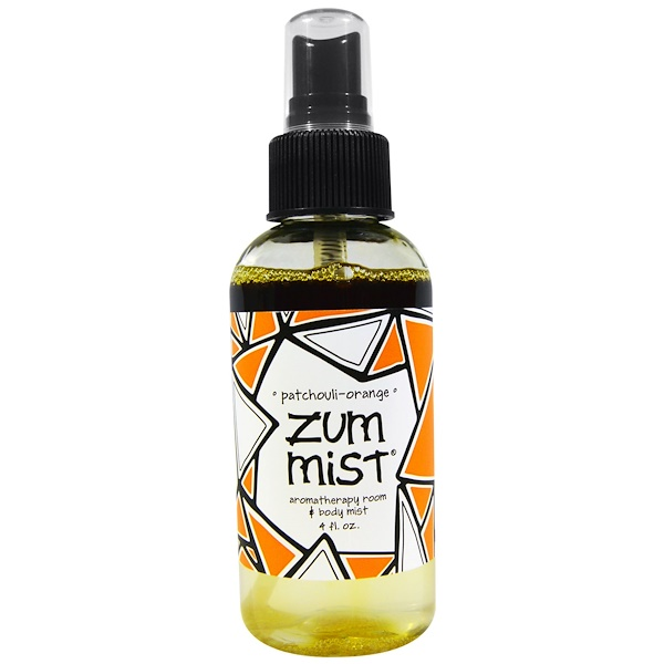 Indigo Wild, Zum Mist, Aromatherapy Room & Body Mist, Patchouli-Orange, 4 fl oz (Discontinued Item)
