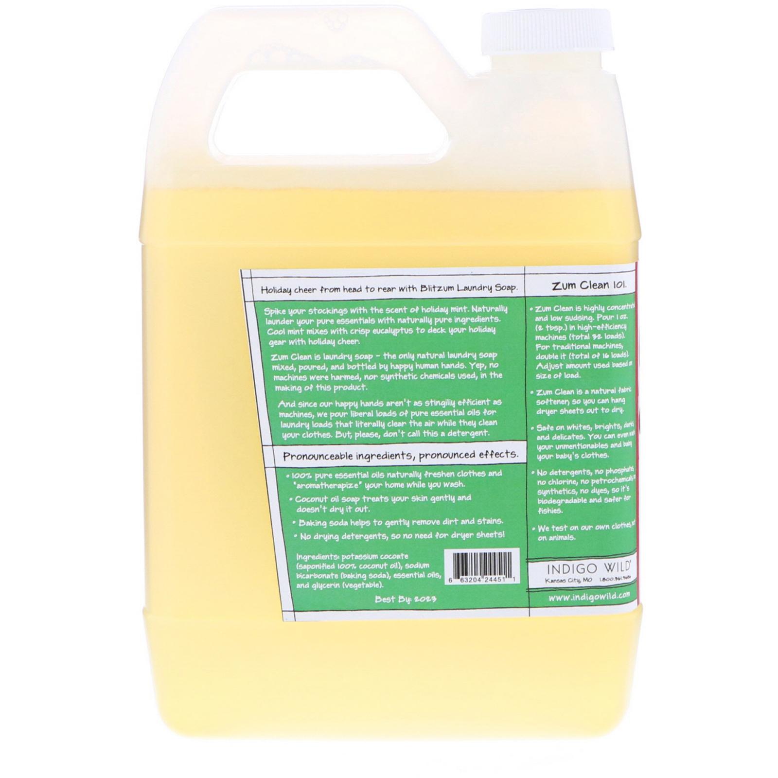 Indigo Wild Blitzum Zum Clean Aromatherapy Laundry Soap Holiday