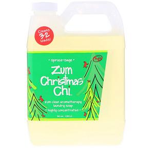 Индиго вилд, Zum Christmas Chi, Clean Aromatherapy Laundry Soap, Spruce Sage, 32 oz (.94 l) отзывы