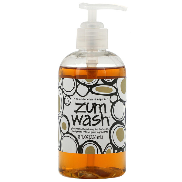 Zum Wash, Natural Liquid Soap for Hands and Body, Frankincense & Myrrh, 8 fl oz (225 ml)