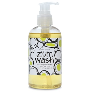 Indigo Wild, Zum Wash, Natural Liquid Soap for Hands and Body, Lemongrass, 8 fl oz (225 ml)