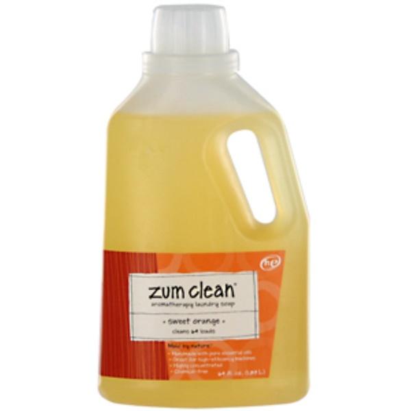 Indigo Wild, Zum Clean, Aromatherapy Laundry Soap, Sweet Orange, 64 fl oz (1.89 L) (Discontinued Item)