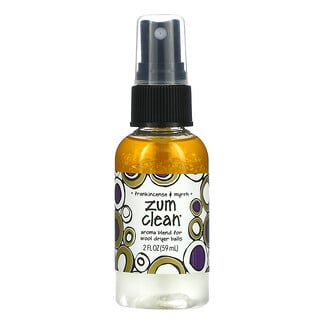 ZUM, Zum Clean, Aroma Blend for Wool Dryer Balls, Frankincense & Myrrh, 2 fl oz (59 ml)