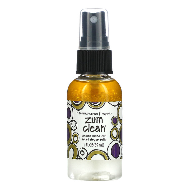 Zum Clean, Aroma Blend for Wool Dryer Balls, Frankincense & Myrrh, 2 fl oz (59 ml)