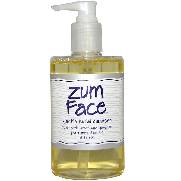 Indigo Wild, Zum Face, Gentle Facial Cleanser, Lemon and Geranium Pure Essential Oils, 8 fl oz (Discontinued Item)