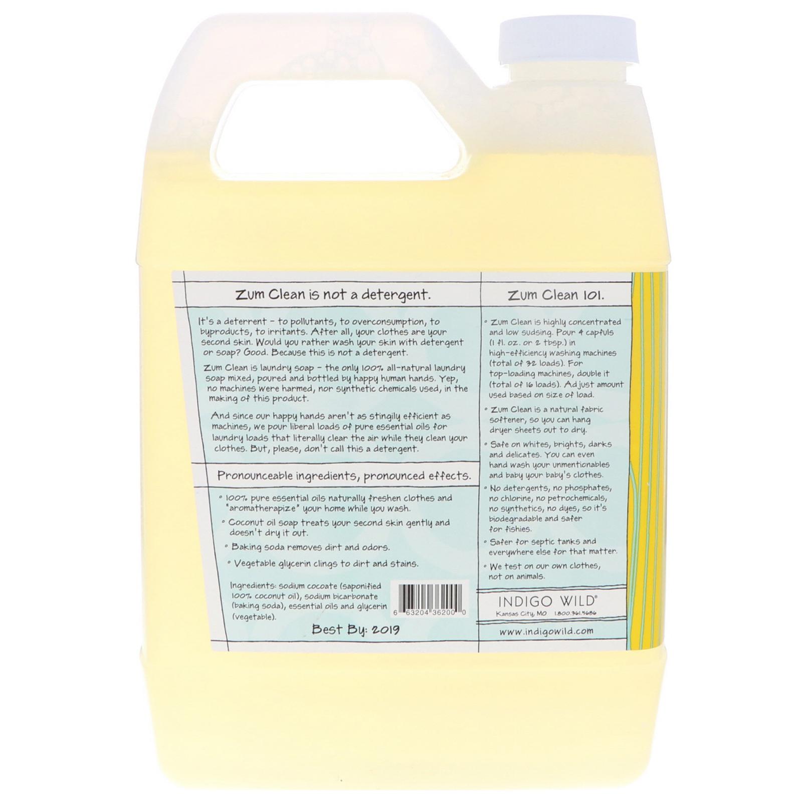 Indigo Wild Zum Clean Aromatherapy Laundry Soap