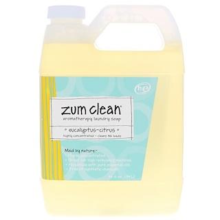 Indigo Wild, Zum Clean, Aromatherapy Laundry Soap, Eucalyptus-Citrus, 32 fl oz (.94 l)