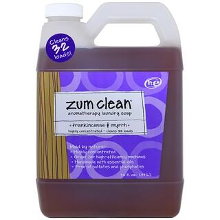 Indigo Wild, Zum Clean, 아로마테라피 세탁 비누, 유향 및 몰약, 32 fl oz (.94 l)