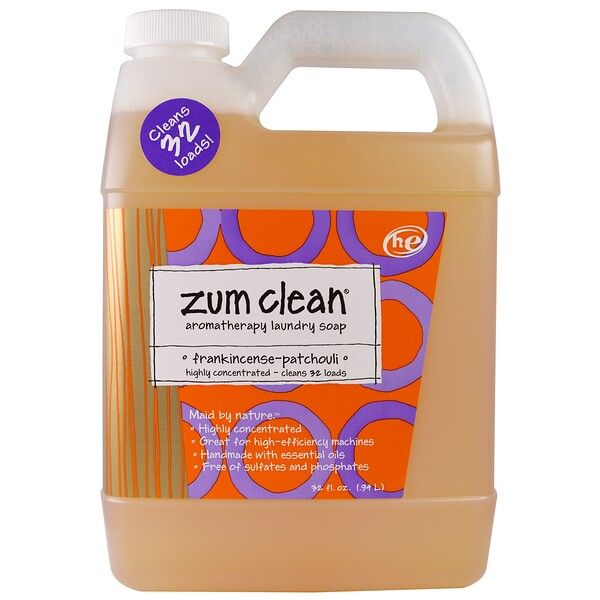Zum Clean, Aromatherapy Laundry Soap, Frankincense & Patchouli, 32 fl oz