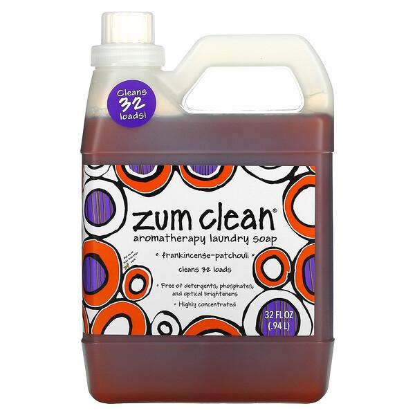 Zum Clean, Aromatherapy Laundry Soap, Frankincense-Patchouli, 32 fl oz (.94 L)