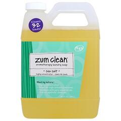 Indigo Wild, Zum Clean, Aromatherapy Laundry Soap, Sea Salt, 32 fl oz (.94 L)