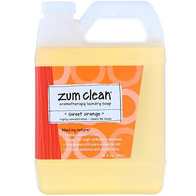 Купить Indigo Wild Zum Clean, ароматизированное мыло для стирки, сладкий апельсин, 32 ж. унц.(0, 94 л)