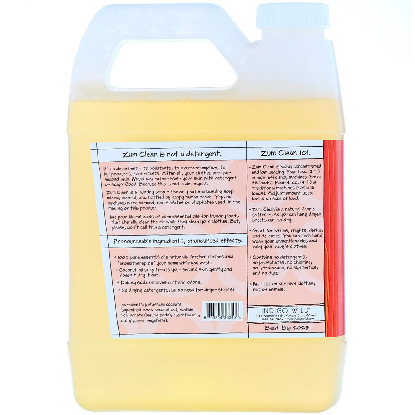 Indigo Wild Zum Clean Aromatherapy Laundry Soap Sweet Orange