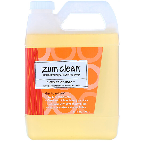Zum Clean, Aromatherapy Laundry Soap, Sweet Orange, 32 fl oz (.94 L)