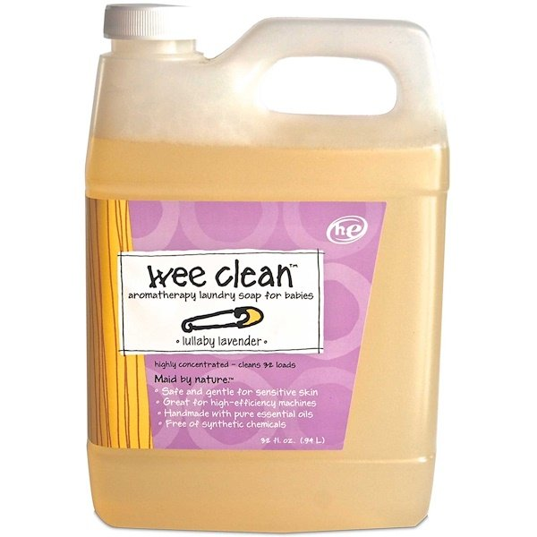 Wee Clean, Aromatherapy Laundry Soap for Babies, Lullaby Lavender, 32 fl oz (.94 L)