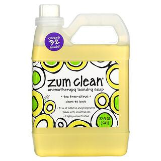 ZUM, Zum Clean,芳香護理洗衣皂,茶樹-柑橘味,32 液量盎司(0.94 升)