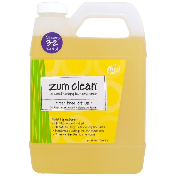 Indigo Wild, Zum Clean, Aromatherapy Laundry Soap, Tea Tree-Citrus, 32 fl oz (.94 L)