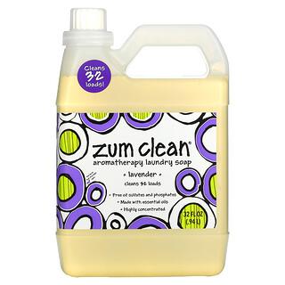 ZUM, Zum Clean, ароматерапевтическое хозяйственное мыло, с запахом лаванды, 0,94 л (32 жидких унции)