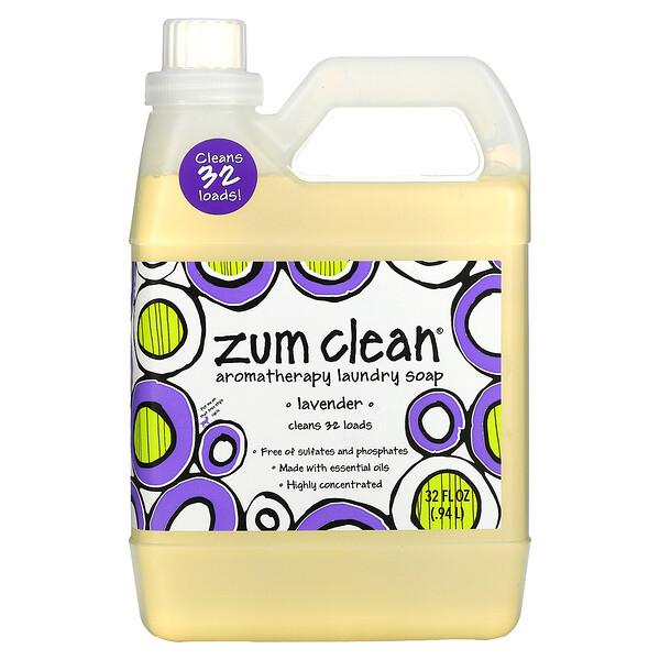 Zum Clean, Aromatherapy Laundry Soap, Lavender, 32 fl oz (.94 L)