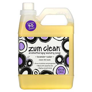 ZUM, Zum Clean, Jabón para lavar de aromaterapia, Cedro-Lavanda, 32 fl oz (0,94 L)