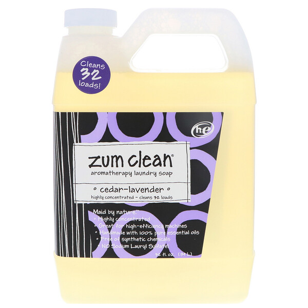 indigo wild zum clean aromatherapy laundry soap cedar lavender 32 fl oz 94 l. Black Bedroom Furniture Sets. Home Design Ideas