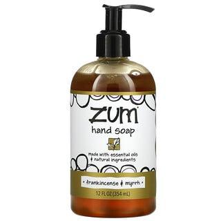 ZUM, Zum 洗手液,乳香和没药香味,12 液量盎司(354 毫升)