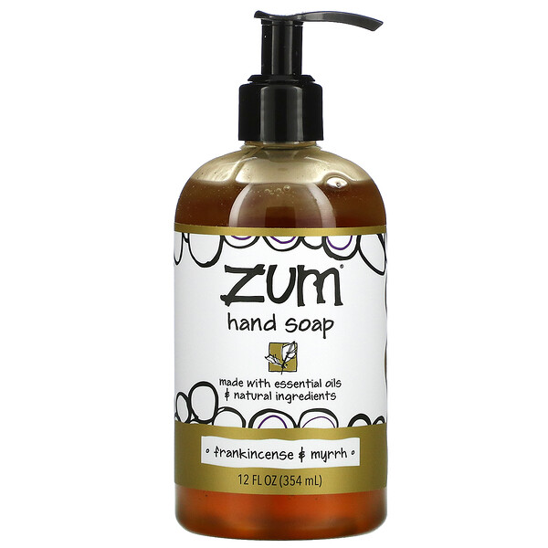 Zum Hand Soap, Frankincense & Myrrh, 12 fl oz (354 ml)