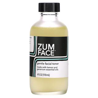 ZUM, Zum Face, Gentle Facial Toner, Lemon and Geranium, 4 fl oz (118 ml)