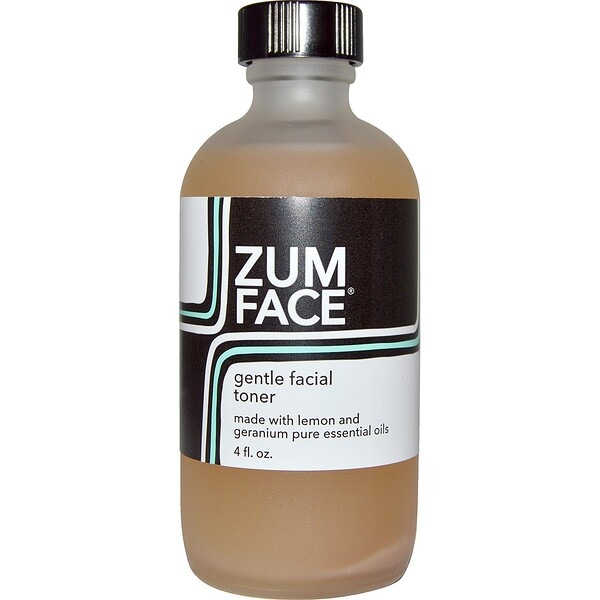 Zum Face, Gentle Facial Toner, Lemon and Geranium, 4 fl oz