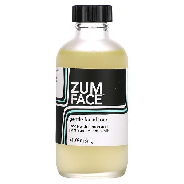 Zum Face, Gentle Facial Toner, Lemon and Geranium, 4 fl oz (118 ml)