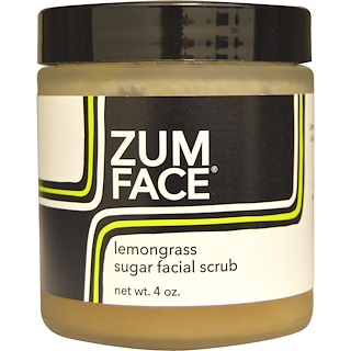 Indigo Wild, Zum Face, Lemongrass Sugar Facial Scrub, 4 oz