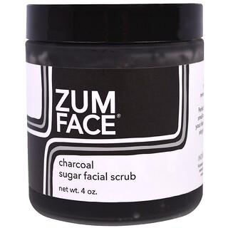 Indigo Wild, Zum Face, Charcoal Sugar Facial Scrub, 4 oz
