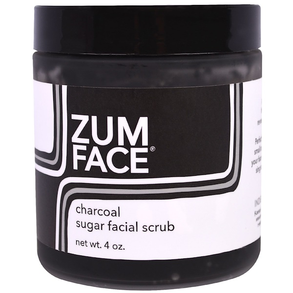 Indigo Wild, Zum Face, Charcoal Sugar Facial Scrub, 4 oz (Discontinued Item)