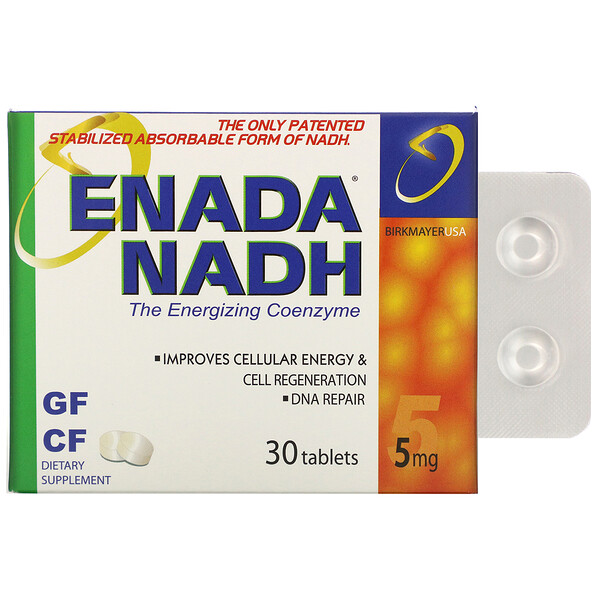 ENADA, NADH 5x, 5 mg, 30 Tablets
