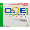 Co - E1, The Energizing Co-Enzyme, Vitality+, 5 mg, 30 Tablets