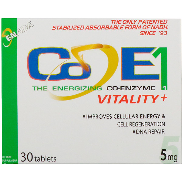 ENADA, The Energizing Co-Enzyme, Vitality+, 5 mg, 30 Tablets