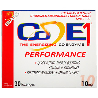 Co - E1, The Energizing Co-Enzyme, Performance, 10 mg, 30 Lozenges