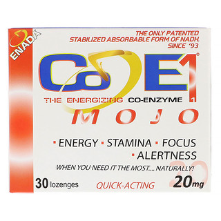 Co - E1, The Energizing Co-enzyme, Mojo, 20 mg, 30 Pastilhas