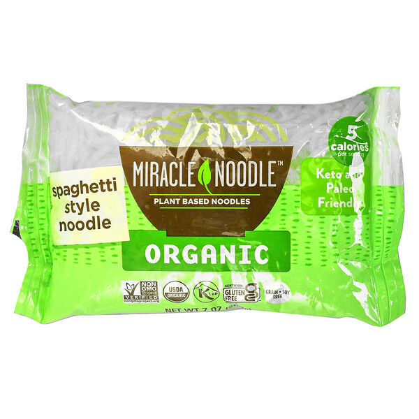 Miracle Noodle, Organic Spaghetti Style Noodle, 7 oz (200 g)