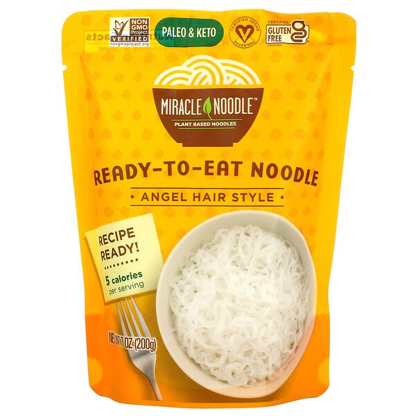 Ready to Eat Noodle, Angel Hair Style, 7 oz (200 g)