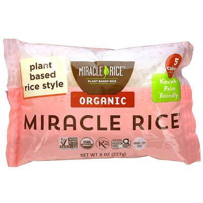 Miracle Noodle Organic Miracle Rice, 8 oz (227 g)