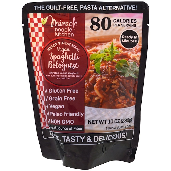 Miracle Noodle, Ready-to-Eat Meal, Vegan Spaghetti Bolognese, 10 oz (280 g)