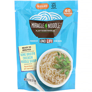 Miracle Noodle, Bone Broth Noodle Soup, Chicken, 7.6 oz (215 g)