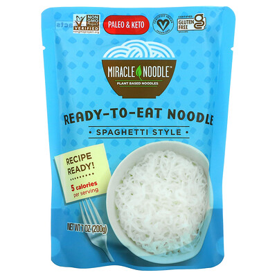 Купить Miracle Noodle Ready-to-Eat Noodle, Spaghetti Style, 7 oz (200 g)
