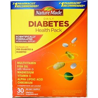 Nature Made, Комплекс витаминов на каждый день для поддержания здоровья при диабете, 30 пакетиков, 6 витаминов в каждом пакетике