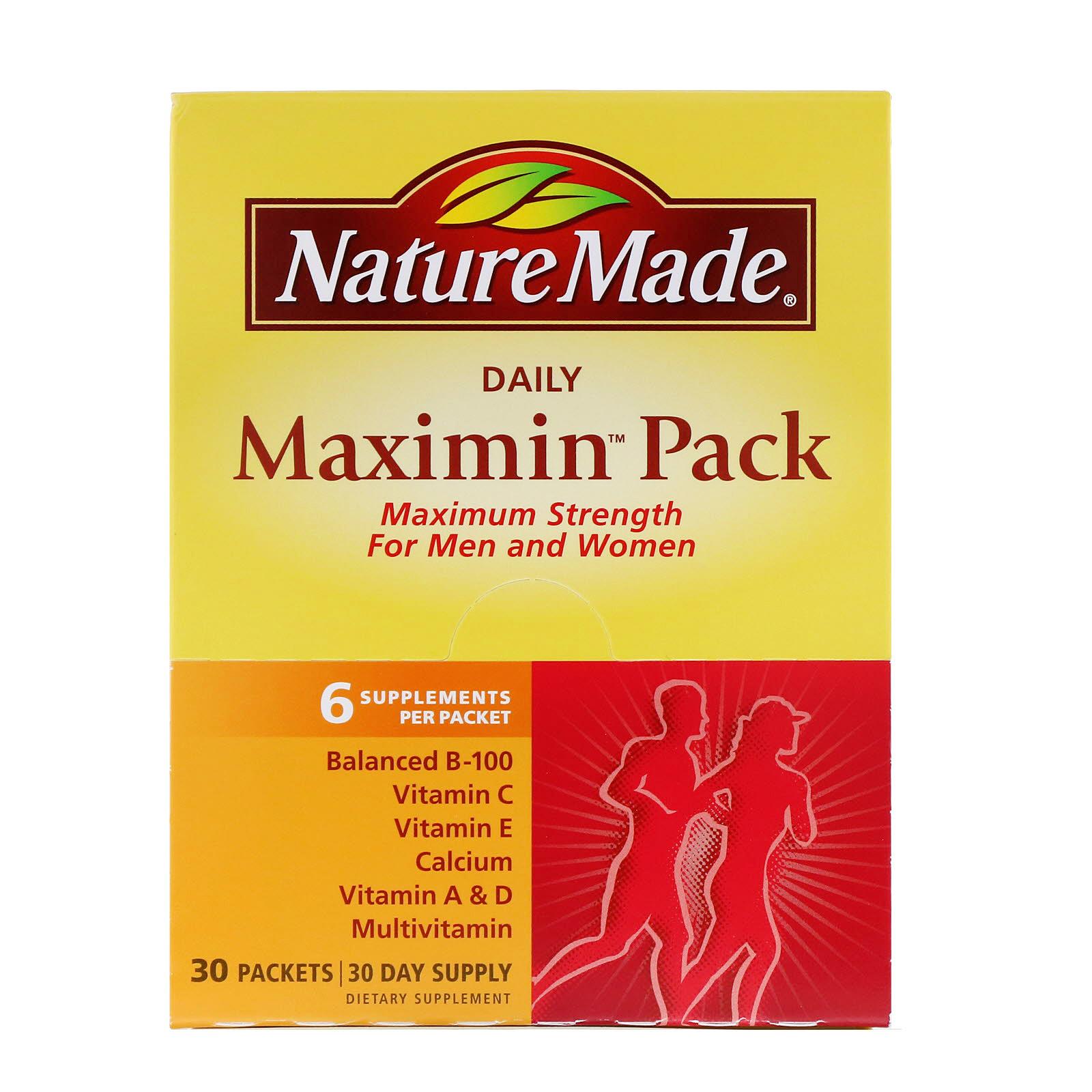 Картинки по запросу Nature Made, Daily Maximin Pack, поливитамины и минералы, 6 ингредиентов