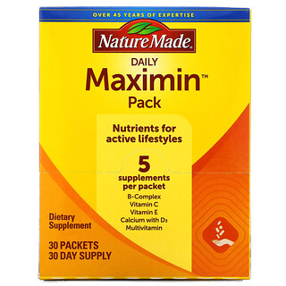 Nature Made, Daily Maximin Pack, 30 Packets