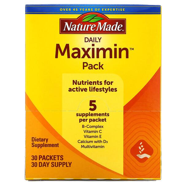 Daily Maximin Pack,複合維生素和礦物質補充劑,30 包