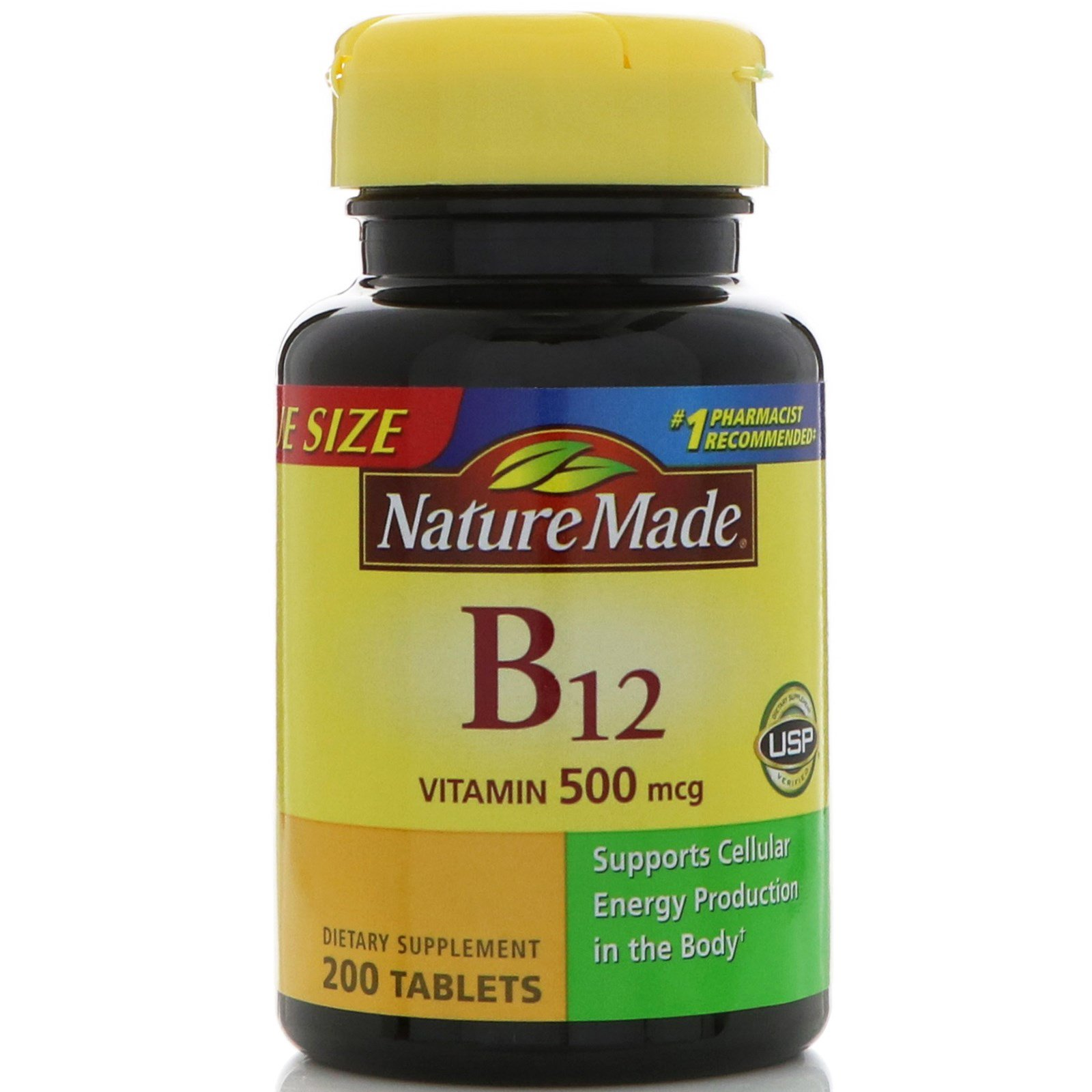Nature Made, Vitamin B-12, 500 mcg, 200 Tablets