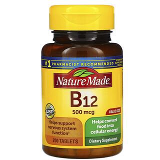Nature Made, Vitamin B12, 500 mcg, 200 Tablets